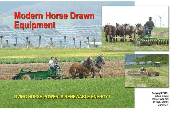Living Horse Power Is Renewable energy!