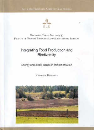 Integrating Food Production and Biodiversity. Energy and Scale Issues in Implementation
